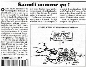 Sanofi Canard 25 02 2015
